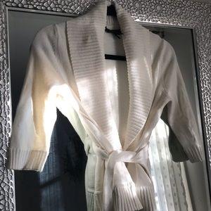 BCBG Max Azria Soft White wrap cardigan
